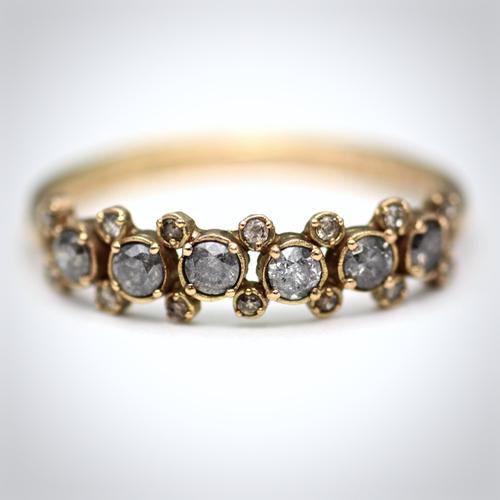 noguchi Shoka: ring gray daiamond